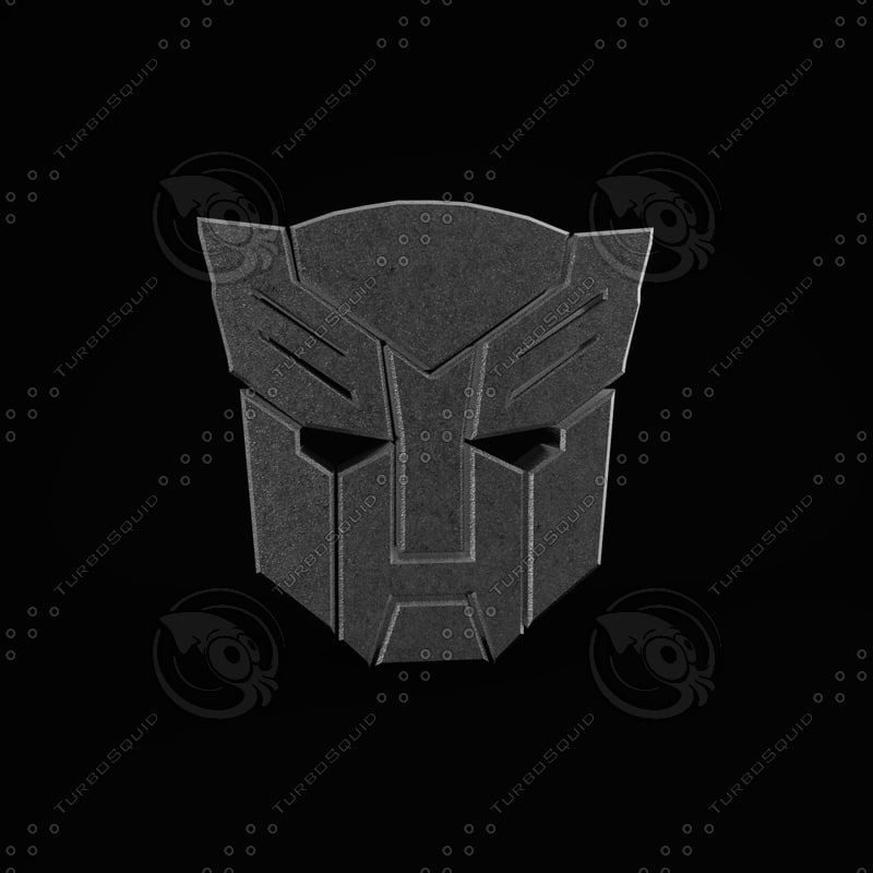 transformers logo 3d max