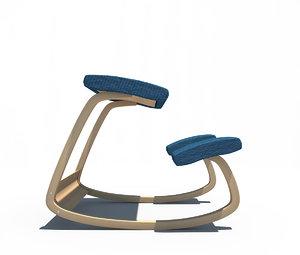 3d model variable chair varier