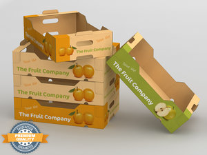 3ds corrugated fruits vegetables box