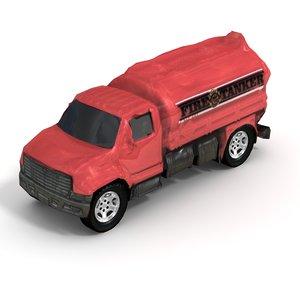 3d model 2006 utility tanker truck