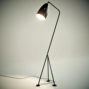 3d grasshopper floor lamp