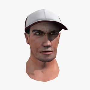 human head 3d 3ds
