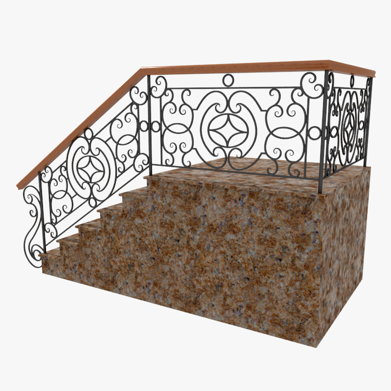 3d wrought iron stair railing