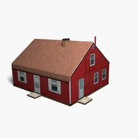 3d low-poly suburban house games