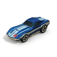 1969 chevy corvette 3d model