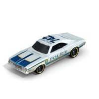 3d model 1969 dodge charger police car