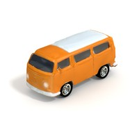 1970s VW Van - Low Poly