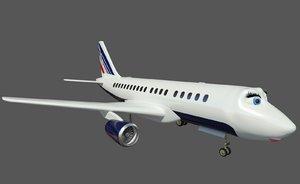 3d airplane a318 plane