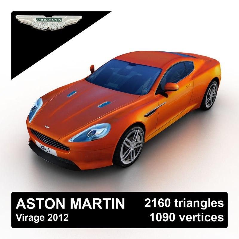 2012 aston martin virage 3d max