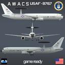 Boeing 767 AWACS 3D models