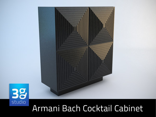 armani bach cocktail cabinet 3d model
