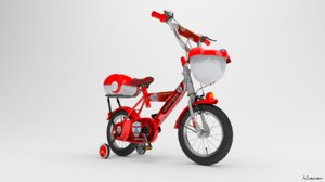 bicycle kids cycle 3d max
