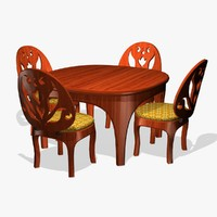 3d bistro table chair model