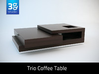 3d trio contemporary coffee table model