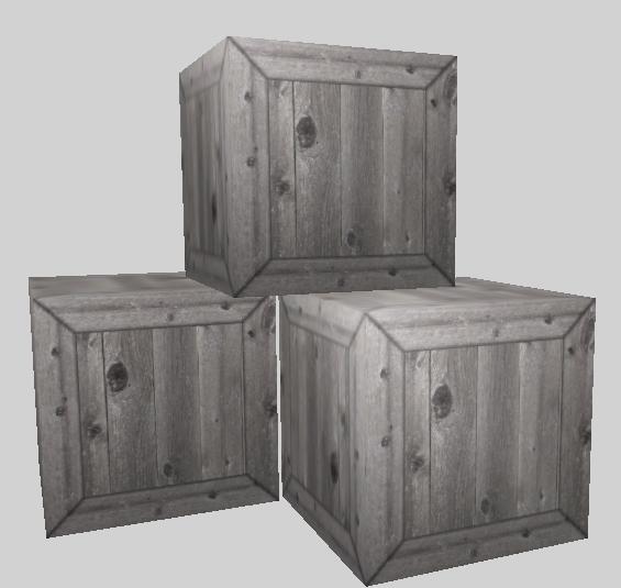 free crates boxes 3d model