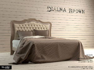 double bed dialma brown 3d model
