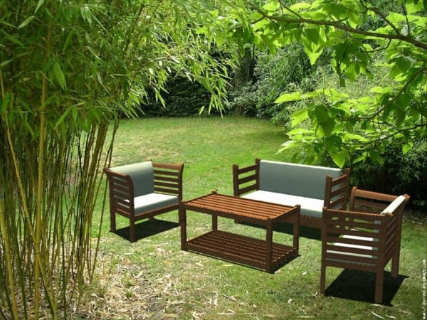 3d model garden table chairs