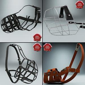 3d model dog muzzles