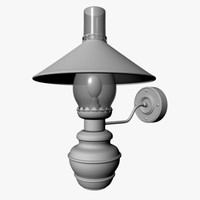 3d dutch wall lamp model