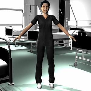 3d male medical staff 02 model
