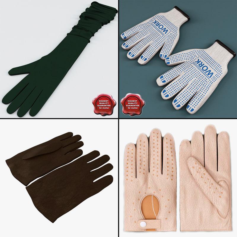 gloves v1 3d max
