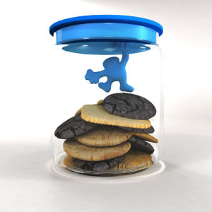 3d alessi biscuit jar model