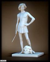 3d model king david sculpt