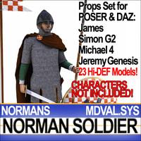 props set daz medieval 3d model