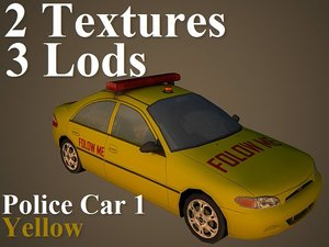 police car 1 3d max