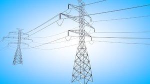 power lines c4d
