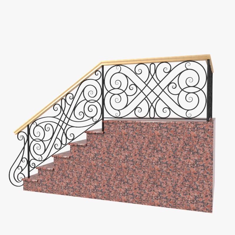 wrought iron stair railing max