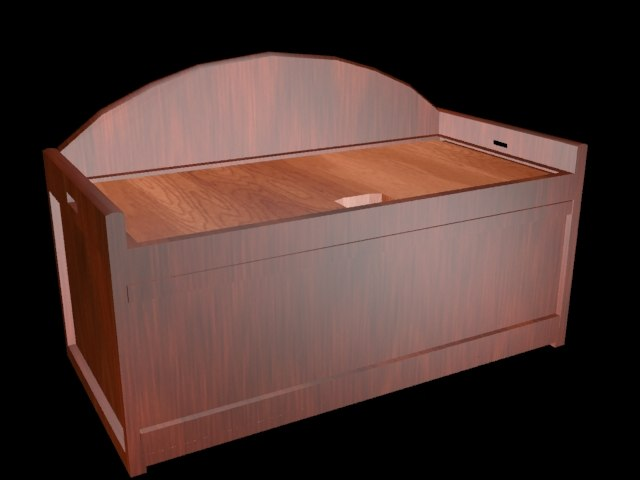 3dsmax cherry wood chest