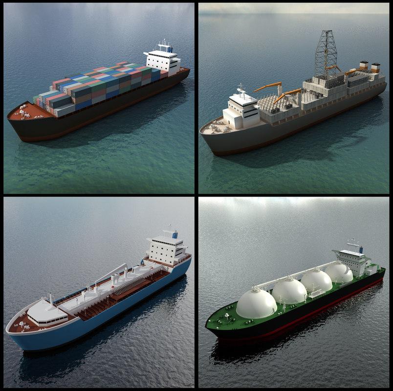 max 4 industrial ships cargo
