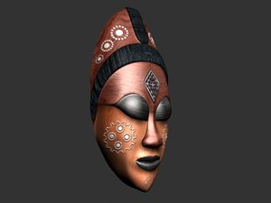 3ds max african mask