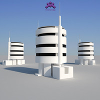 modern industrial building 3d 3ds