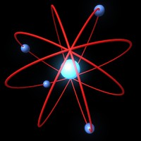 electrons atom 3d model