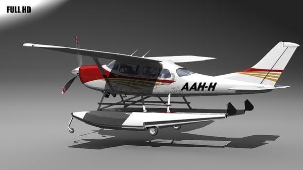 3d model stationair floats