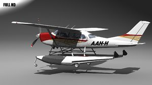 3d model stationair floats