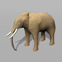 3d elephant uv model