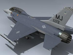 usaf f-16b 13th tfs 3ds