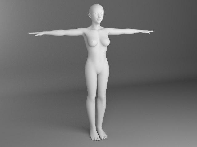 female 3d model