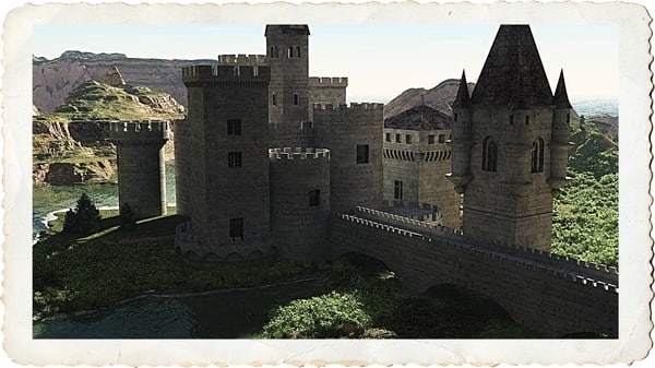 castle kit towers 3d model