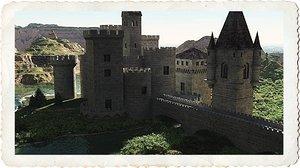 castle kit towers 3d model