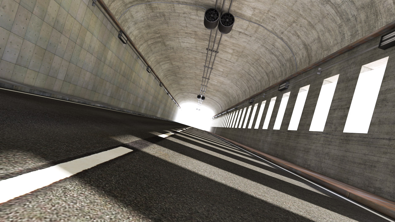 hq tunnel render stage obj