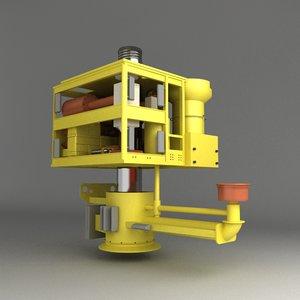 3d model sub sea wellhead controller