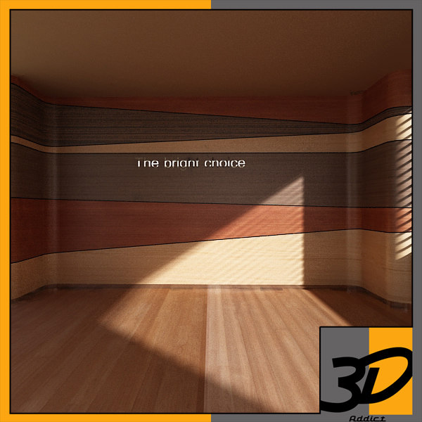 feature wall 3d model