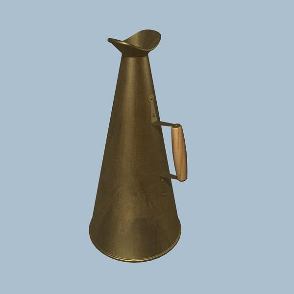 old megaphone 3d model