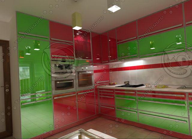 3d model furnitures kitchen