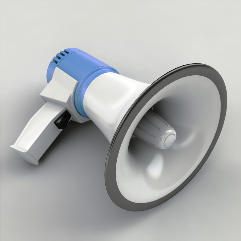 megaphone modeled 3d model