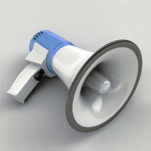 megaphone modeled 3d model